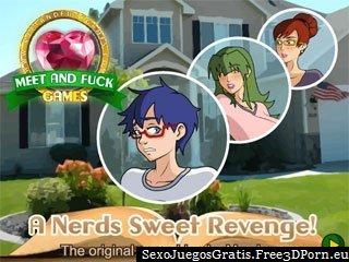 Una venganza dulce empollones con jóvenes caricaturas sexuales