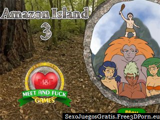 Amazon Island 3 juego porno exótico con mierda playa