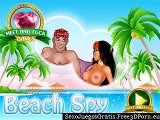 Playa sexo espía y voyeur porno en la playa nudista
