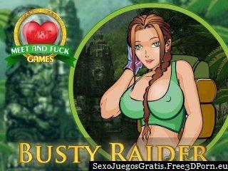 Folla Tetona Raider en una tumba Roder juego de Lara Croft
