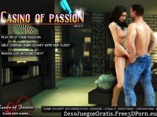 Casino de la pasión y sexy esposa sexo
