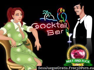 Tirarse a chicas atractivas en un bar de cócteles juego de navegador