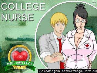 Colegio Enfermera - estudiante de juego de mierda escuela