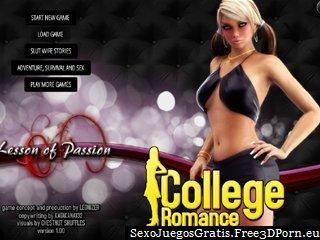 El romance del estudiante universitario con el sexo y residencia