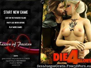 Duendes y princesas místicos sexy en monstruo juego sexual