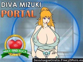 Diva Mizuki Portal con tetas desnuda de dibujos animados