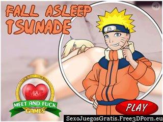 Fall Asleep Tsunade - chica rubia en juego erótico libre