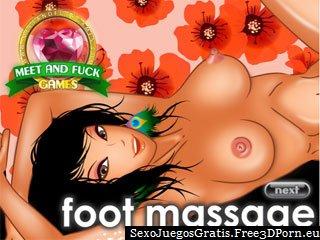 Masaje del pie fetiche con los pies sucios corridas