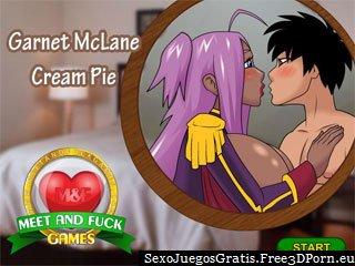 Garnet Cream Pie en juego del sexo de dibujos animados