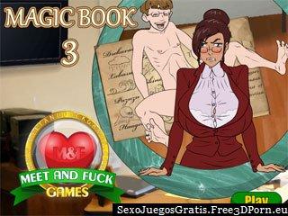 Libro Mágico juego de 3 relaciones sexuales con un joven colegial