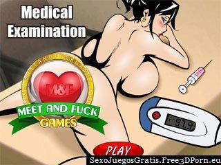 Examen médico en el hospital rizado mierda juego