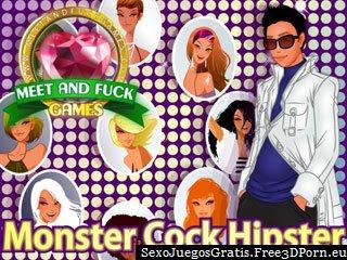 Monster Cock Hipster cogida en un juego de la pornografía