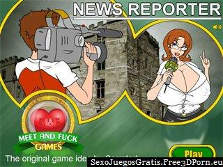 Reportero Noticias con periodistas sexy