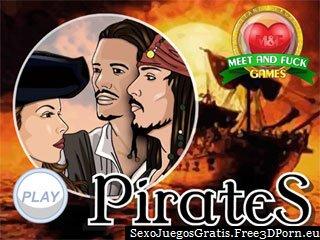 Piratas de los juegos porno de dibujos animados del Caribe
