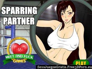 Follando sparring y tener sexo en el ring de boxeo
