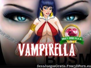 Juego de cogida vampirella BDSM con traviesa sexo vampírico