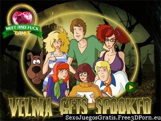 Velma se asusta por sexy Scooby Doo hijo de puta